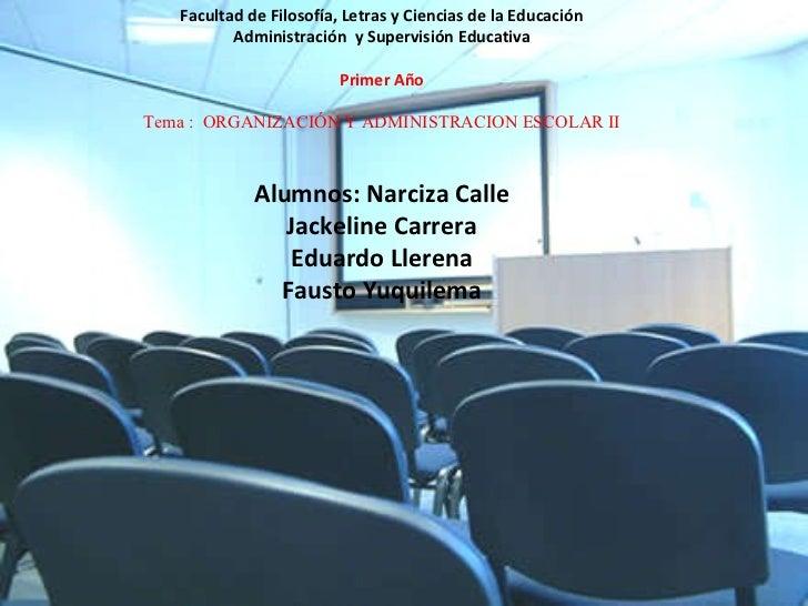 UNIVERSIDAD DE GUAYAQUIL Facultad de Filosofía, Letras y Ciencias de la Educación Administración  y Supervisión Educativa ...
