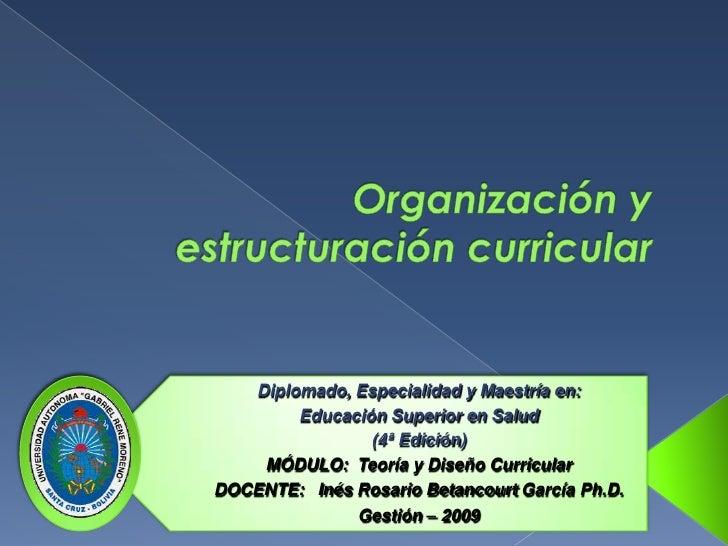 Diplomado, Especialidad y Maestría en:         Educación Superior en Salud                 (4ª Edición)     MÓDULO: Teoría...