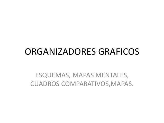 ORGANIZADORES GRAFICOS ESQUEMAS, MAPAS MENTALES, CUADROS COMPARATIVOS,MAPAS.