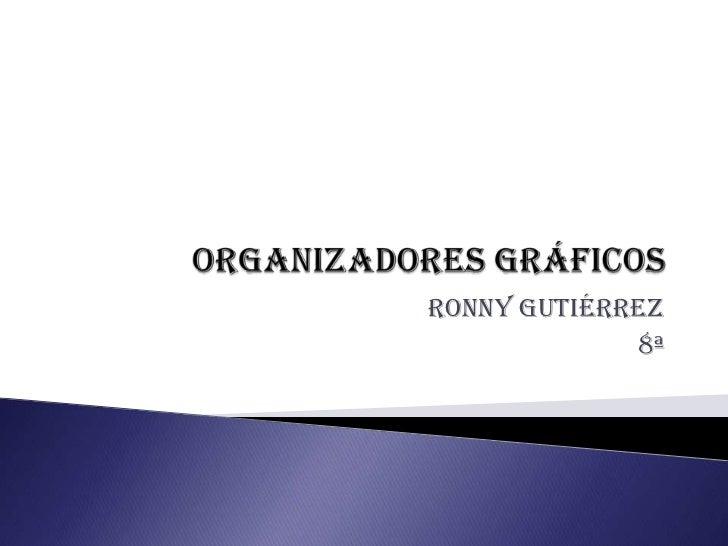 Organizadores gráficos<br />Ronny Gutiérrez <br />8ª<br />