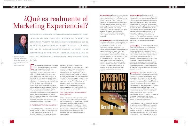 ¿Qué es el marketing experiencial?