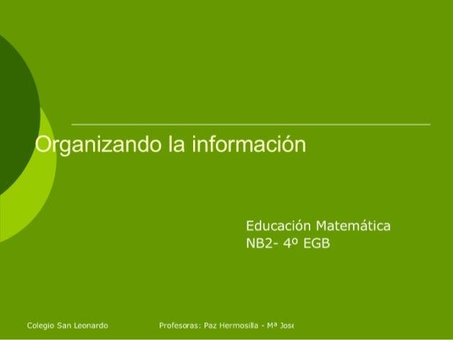 Organizando La Información