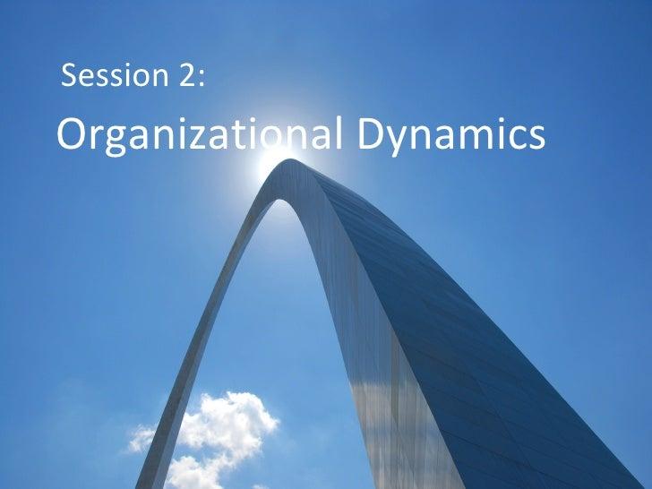 Session 2: Organizational Dynamics