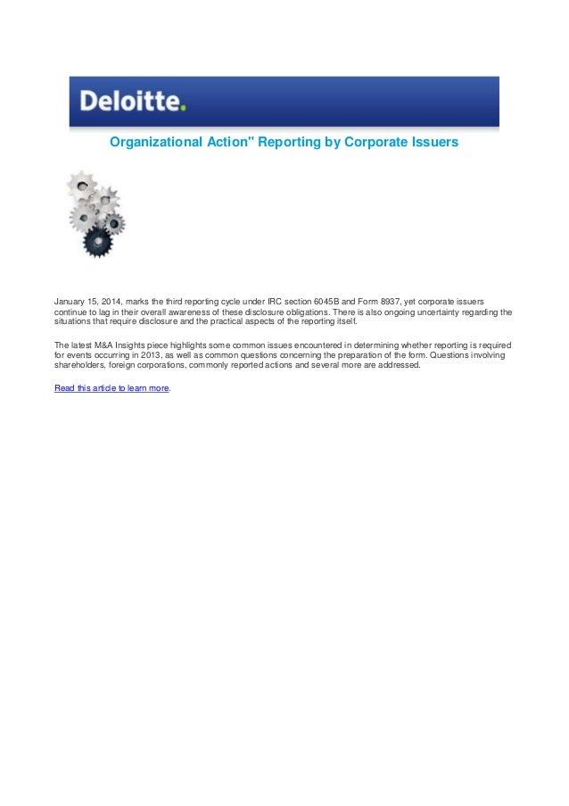 Deloitte Organizational action