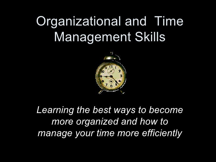 teenagers should learn to manage time efficiently To manage your time, use your time productively by working in the time management is an important skill to cultivate it can help you make the most out of each day, leading to success in areas like work and school.