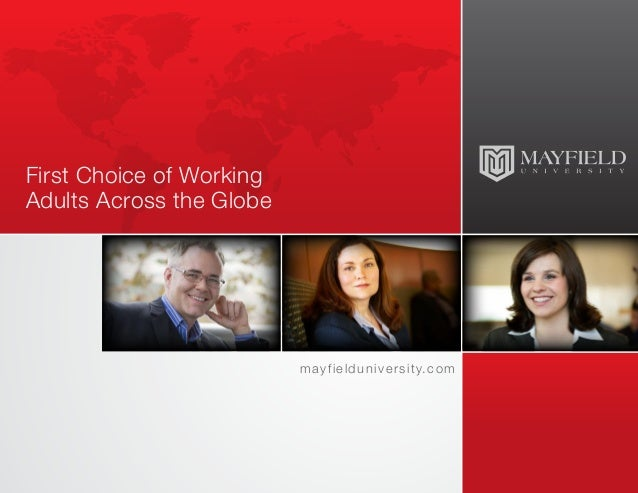 Mayfield University - First Choice of Working Adults Across the Globe