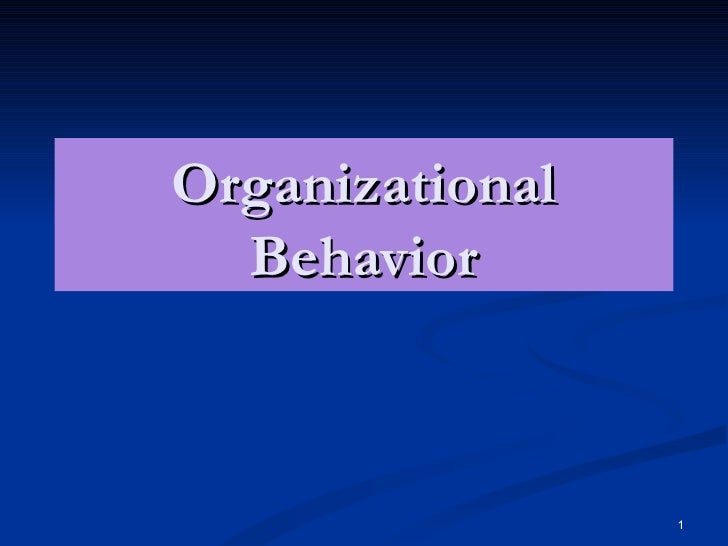 organizational behaviour project report pdf
