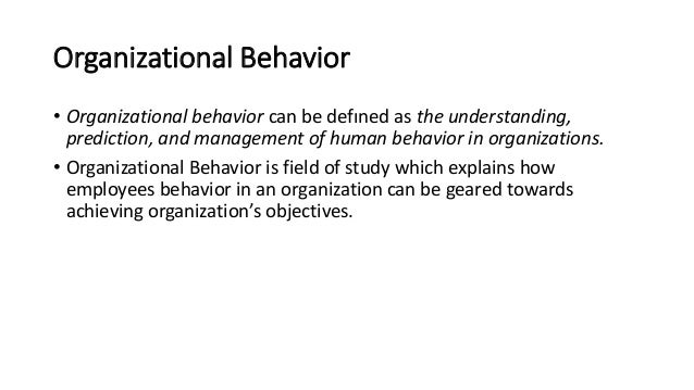 course notes for organizational behavior Bba 3451, organizational theory and behavior 1 course description presents basic knowledge of organizational theory, human motivation, emotional intelligence, and.