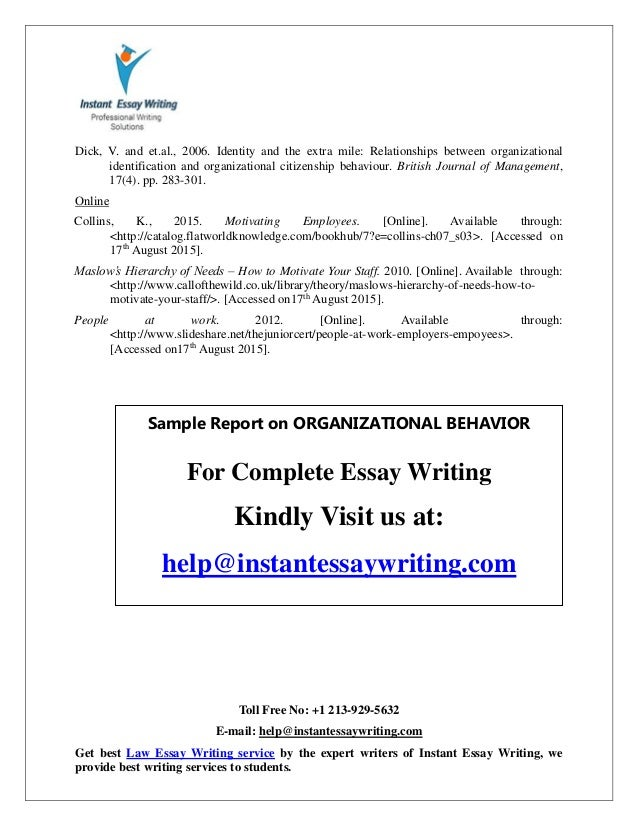 Behavior essay