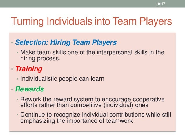 implications for team performance What makes for a great team the benefits for team performance claimed by the than we have heretofore the implications of thinking about team dynamics in.