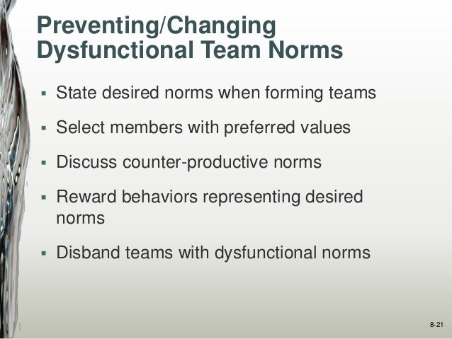 dysfunctional executive behavior Dr ralph kilmann's article explains how to diagnose organizations for dysfunctional values, and behavior provide of dysfunctional behavioral norms is best.