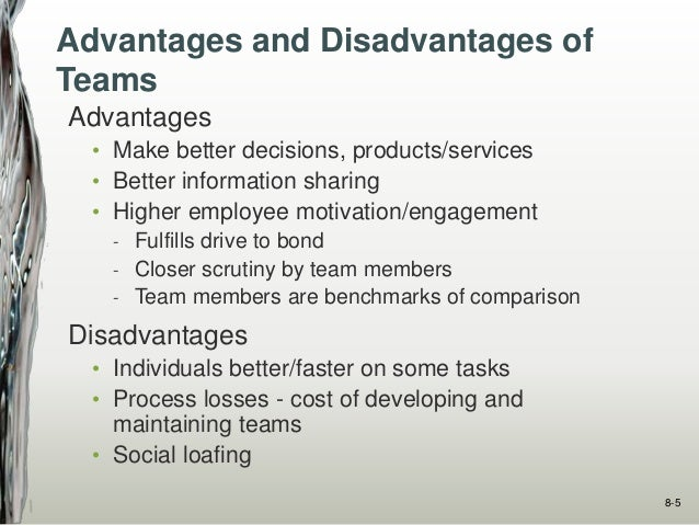 advantages and disadvantages of employee involvement in decision making Outcomes of employee involvement • improved organizational decision-making capability • improved attitude regarding work • substantially improved employee well-being • reduced costs through elimination of waste and reduced product cycle times • empowerment, job satisfaction, creativity, commitment and motivation, as well as intent to .