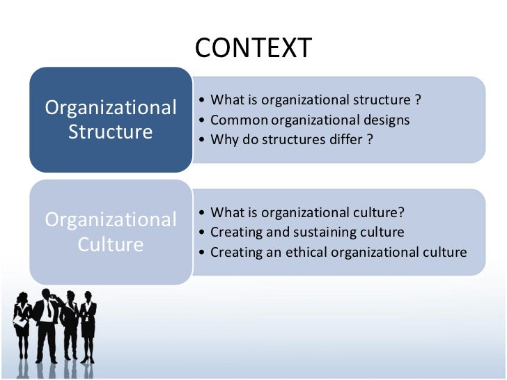 impact of organizational structure and culture on job The level of job satisfaction and effectiveness of every human depends upon an appropriate organization structure as organization structure is the prescribed pattern of work-related behavior that are deliberately established for the accomplishment of organizational goals.