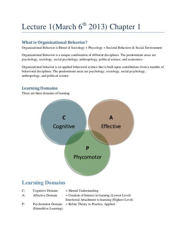 Organizational behaviour   board material