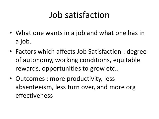 the effect of job satisfaction on I title page the impact of job satisfaction on employee performance in government owned enterprises by okeke, chikaodili p pg/mba/08/53186 for the award of masters in business administration.