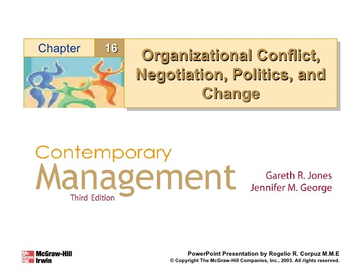 Organizational Conflict, Negotiation, Politics, and Change PowerPoint Presentation by Rogelio R. Corpuz M.M.E © Copyright ...