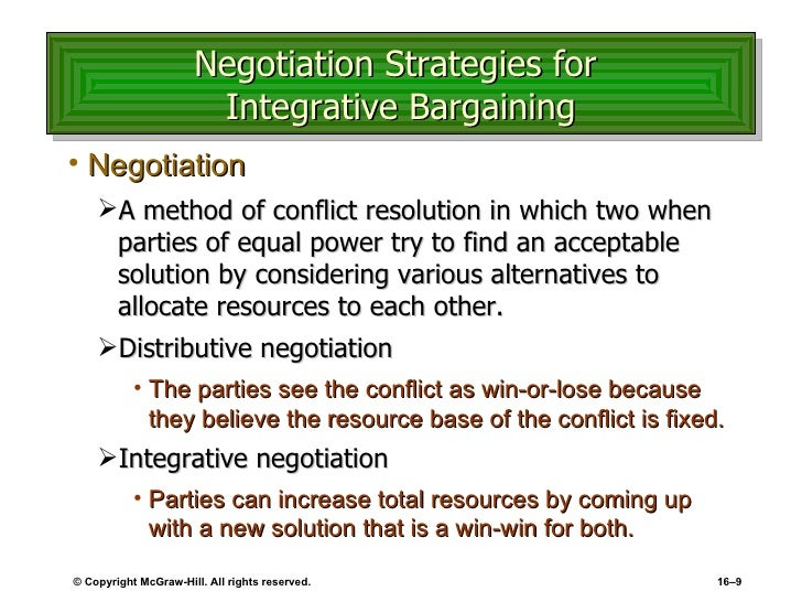 negotiation method