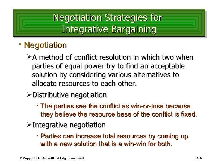 negotiation method