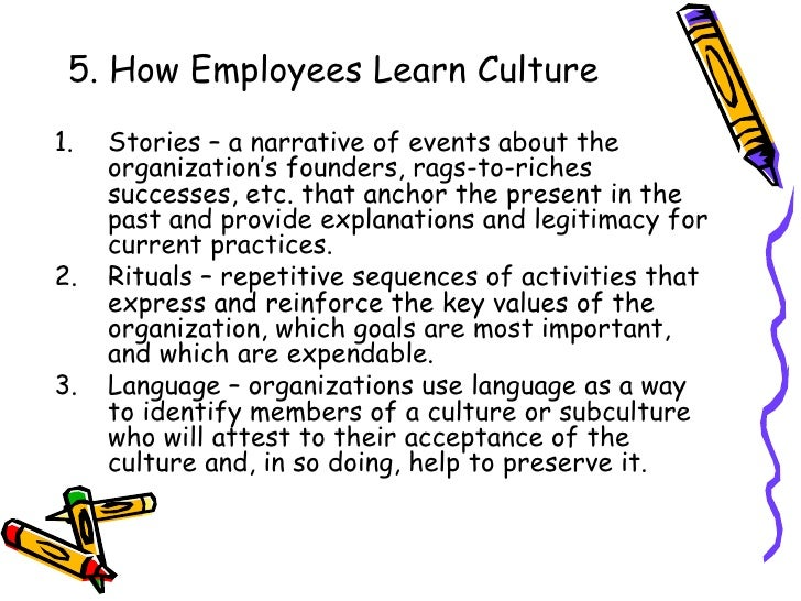 how employees learn culture Companies with a learning culture are popular employers in fact, how well a  company supports the personal development of its employees is.