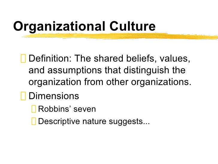 essays organizational culture Introduction according to arthur & thompson (2009), organizational culture refers to the joint behaviour of individuals who constitute the organization, and the meanings that they attach to their actions.