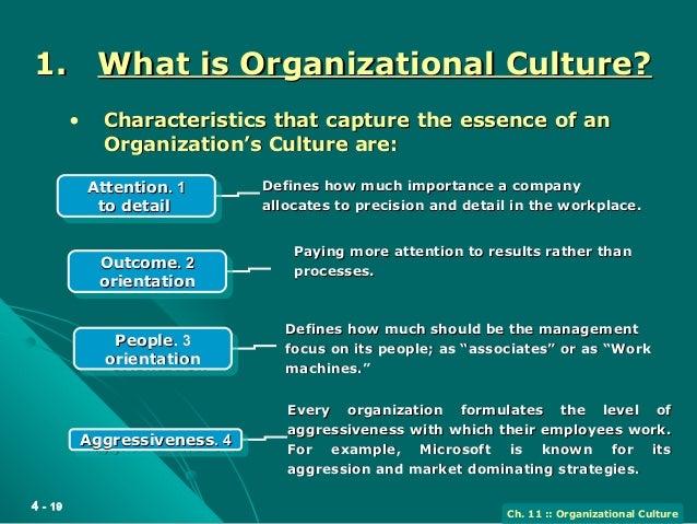 people orientation as organizational culture