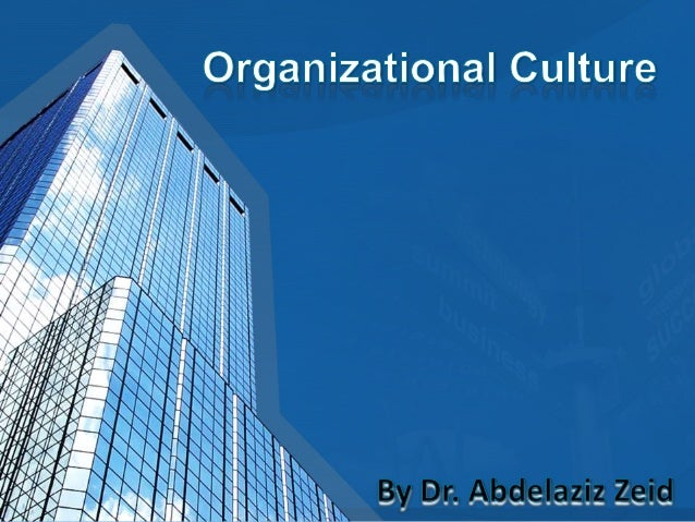 An organization has a personality, which we call its culture. And that culture influences the way employees act and intera...
