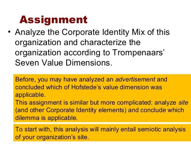 Organizational culture assignment