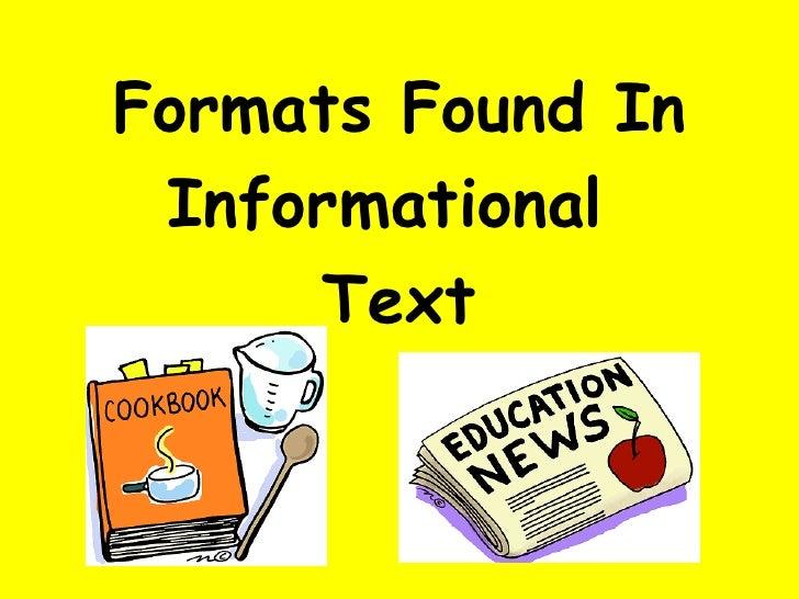 Organizational Formats