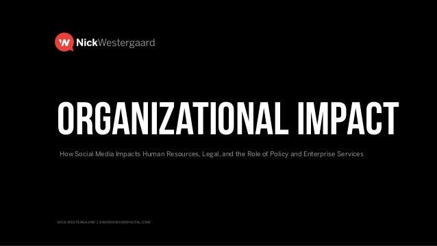 Organizational Impact of Social Media