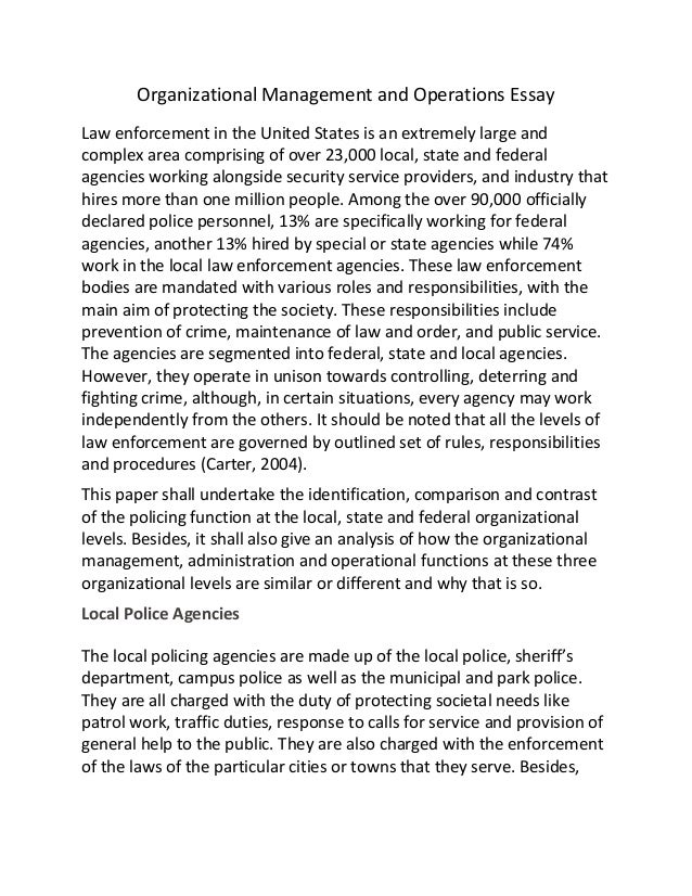 successful law enforcement agency management essay Building and maintaining community trust is the cornerstone of successful policing and law enforcement information on how local law enforcement agencies can be.