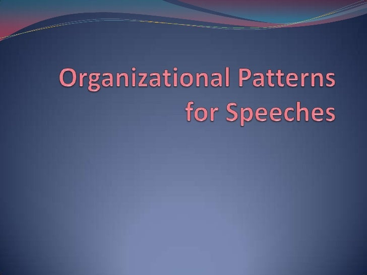 Organizing the Main Points You MUST organize your main points The biggest difference between an Informative speech  and ...