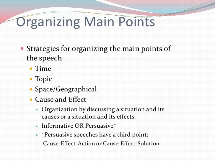 Cause and Effect Speech Topic!?!?