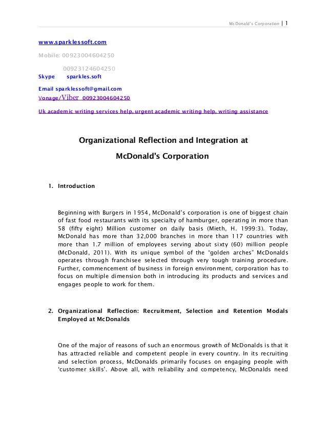 organization of dissertation