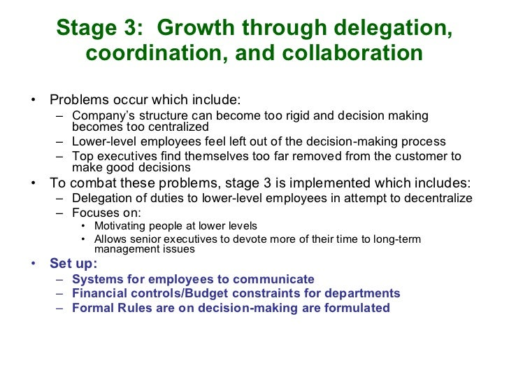 organizational stages of growth with examples Managing the growing business six stages of growth example: computer industry 0 2 previous stages success organization and.