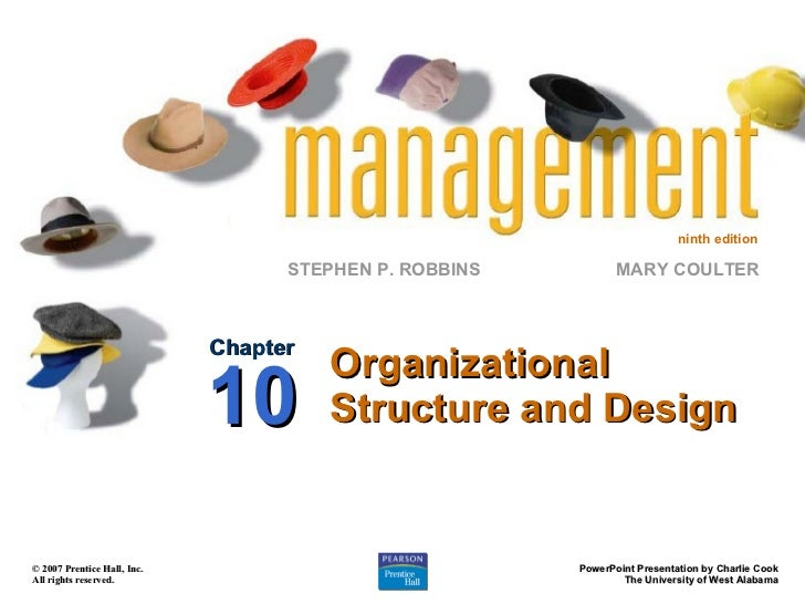 Organizational Structure and Design Chapter 10