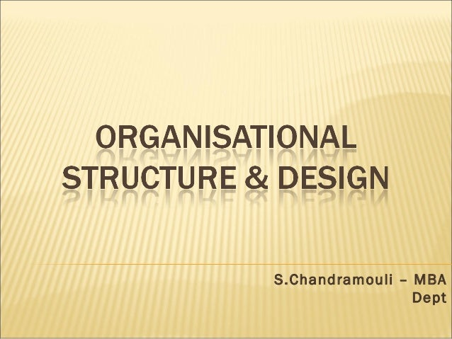 S.Chandramouli – MBA Dept