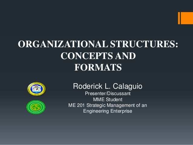 Organizational Structures: Concepts and Formats