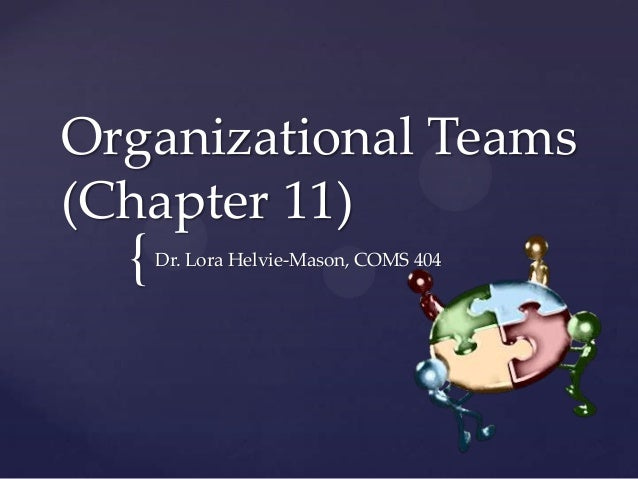 Organizational teams (chapter 11)
