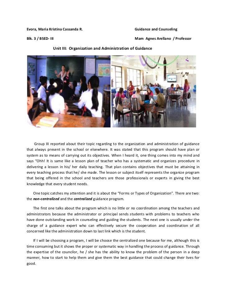 Evora, Maria Kristina Cassanda R.                                 Guidance and CounselingBlk. 3 / BSED- III               ...