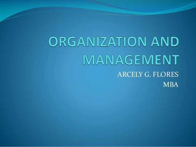 ARCELY G. FLORES MBA