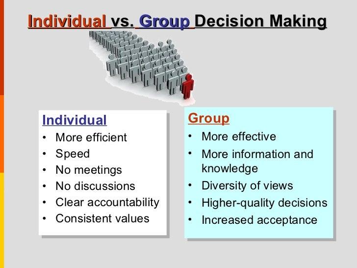 Individuality vs group essays