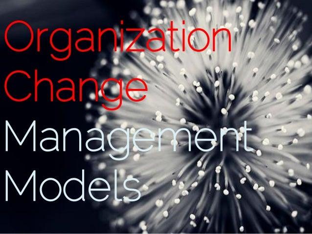 Organization change mgmt models
