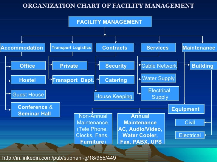 Organization Chart Of Facility Managemnt