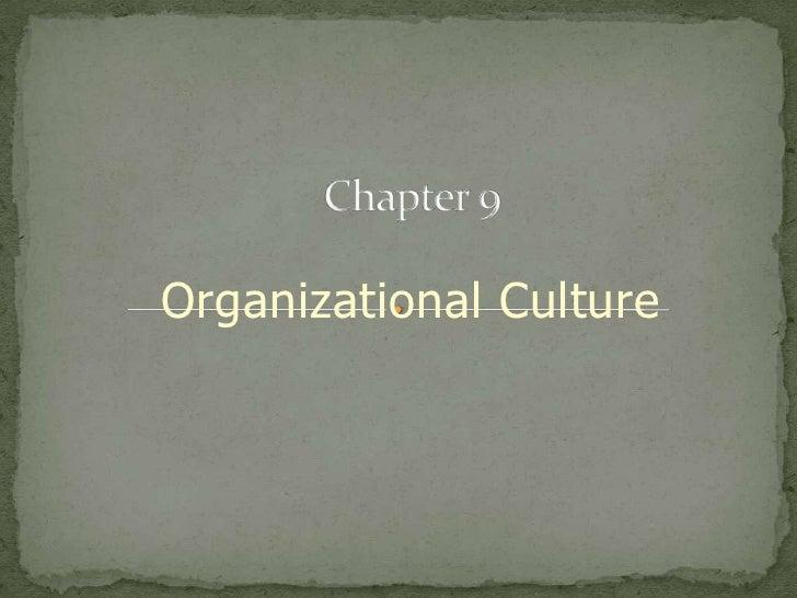 Organization Culture by SAG