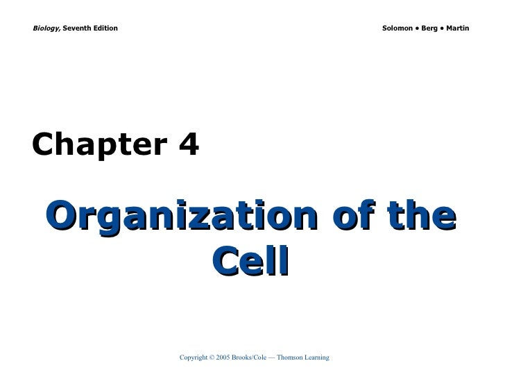 Organization of the Cell