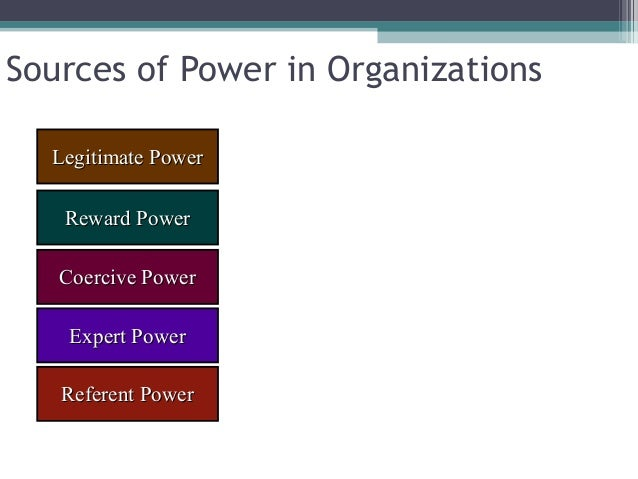 5 sources of power Power is a force of influence and authority most leaders wield power, but how power is manifested and used often differs between leaders where does.