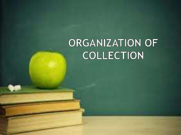 Organization scheme