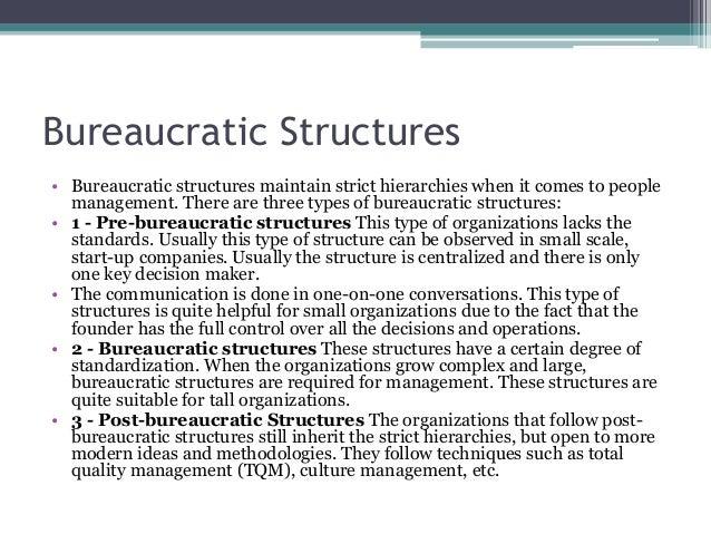 post bureaucratic