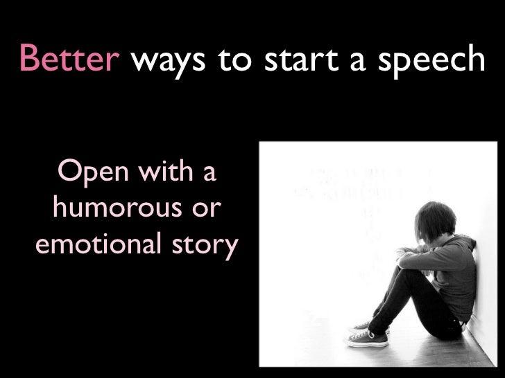 ways of starting speeches