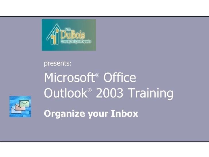 Organize Your Inbox!!!